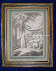 Originale, antike Zeichnung, Johannes Zacharias PREY 1744-1823. Original, antique drawing Johannes Zacharias PREY 1744-1823.