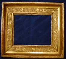 Antique gilded frame, made about 1800.
