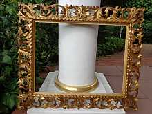 Antique baroque frame with ornaments, 18th century.